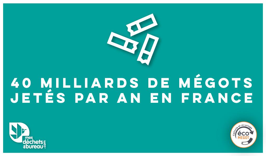 40 Milliards de mégots jetés par an en France