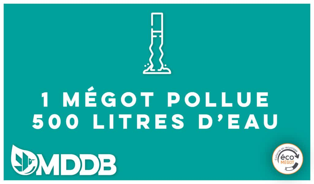 Un Mégot pollue 500 litres d'eau
